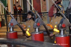 キッザニア甲子園 消防士 放水